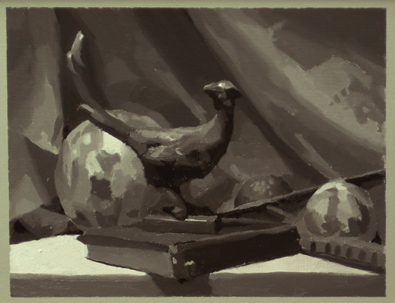 Figure and Still-life paintings+demo